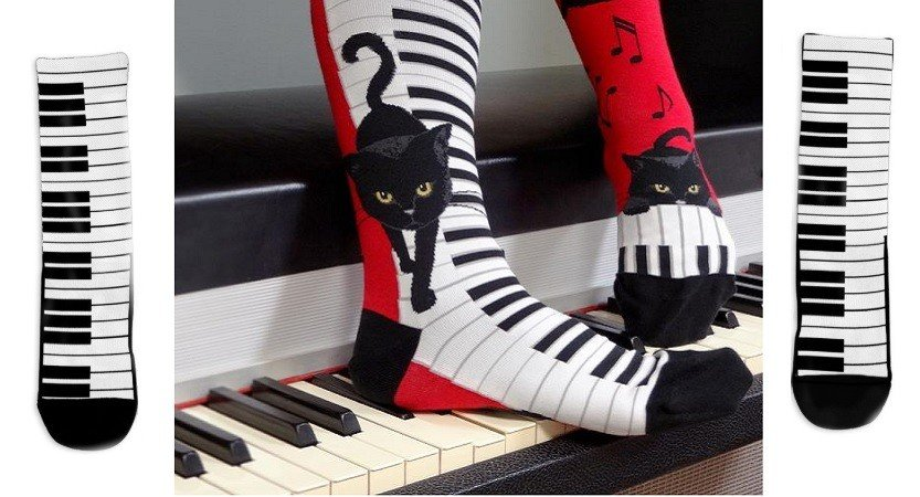 Socks with Musical Theme | brighten up those feet!