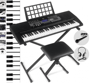FitnessClub 61-Key Portable Electronic Keyboard