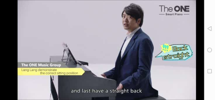 Lang Lang teaches hand position and posture